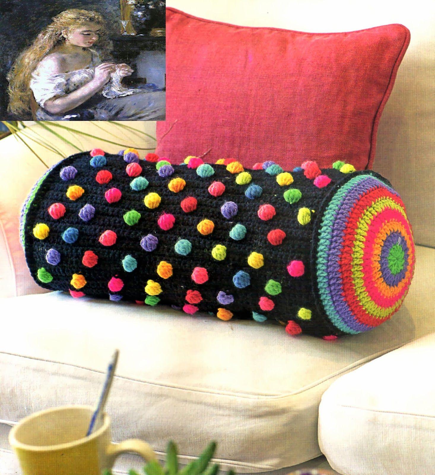 ¡ Wow! Patrones ganchillo afganos con almohadas a juego