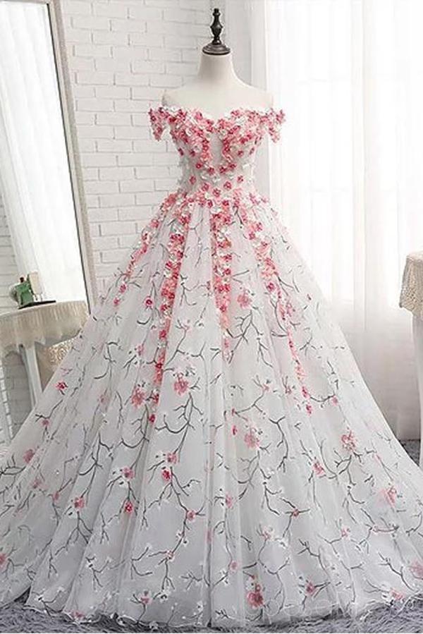 8df8e9a01c9a1 Off Shoulder Lace Applique Evening Prom Dresses, Cheap Custom Sweet 16  Dresses N1493