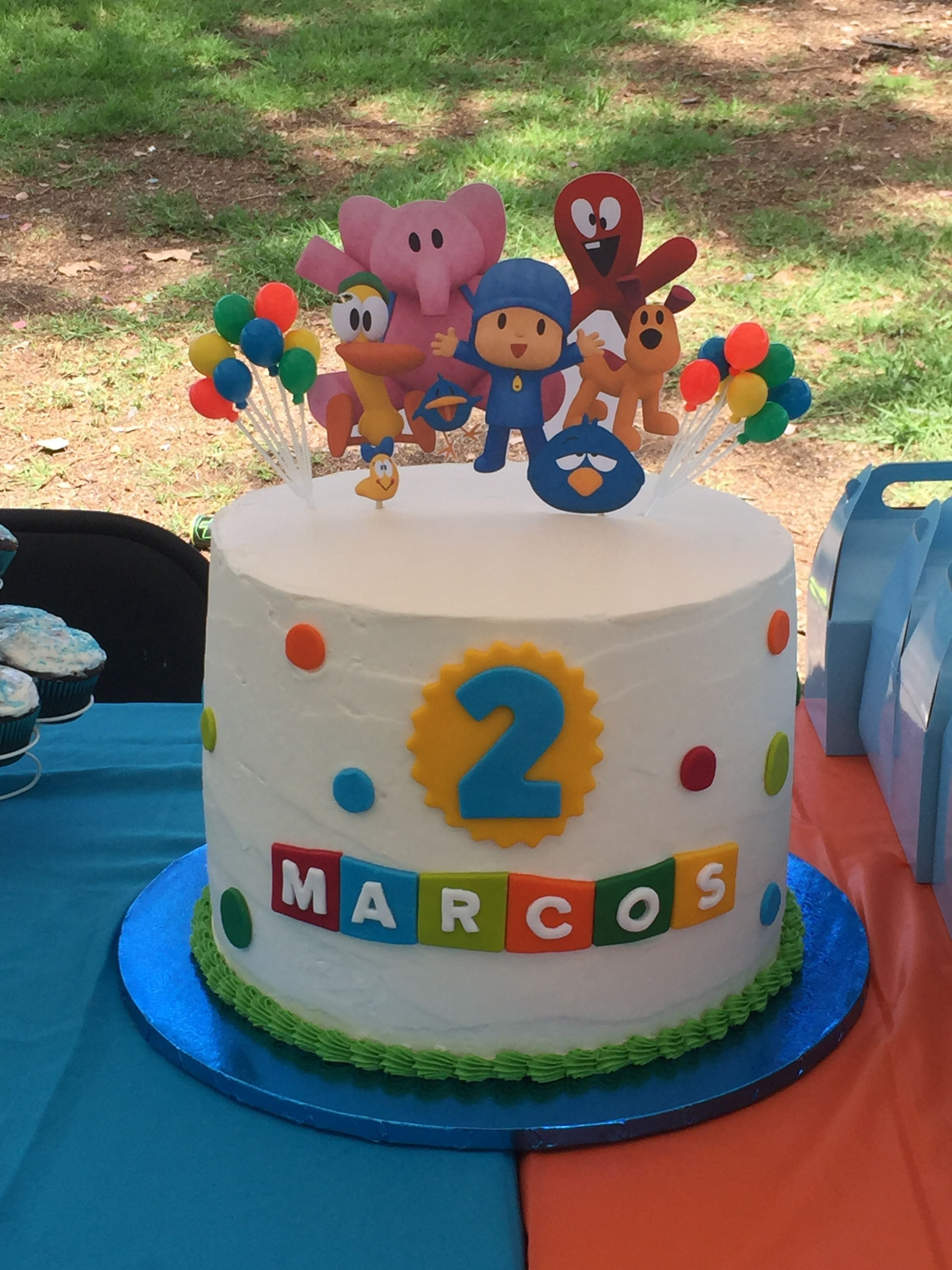 Tremendous 21 Great Picture Of Pocoyo Birthday Cake With Images Diy Funny Birthday Cards Online Elaedamsfinfo