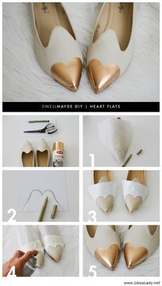 DIY - Heart flats more copper spray paint!!!                              …
