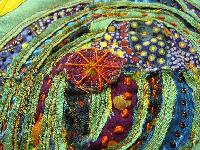 mixed media quilt by ro_bruhn, via Flickr