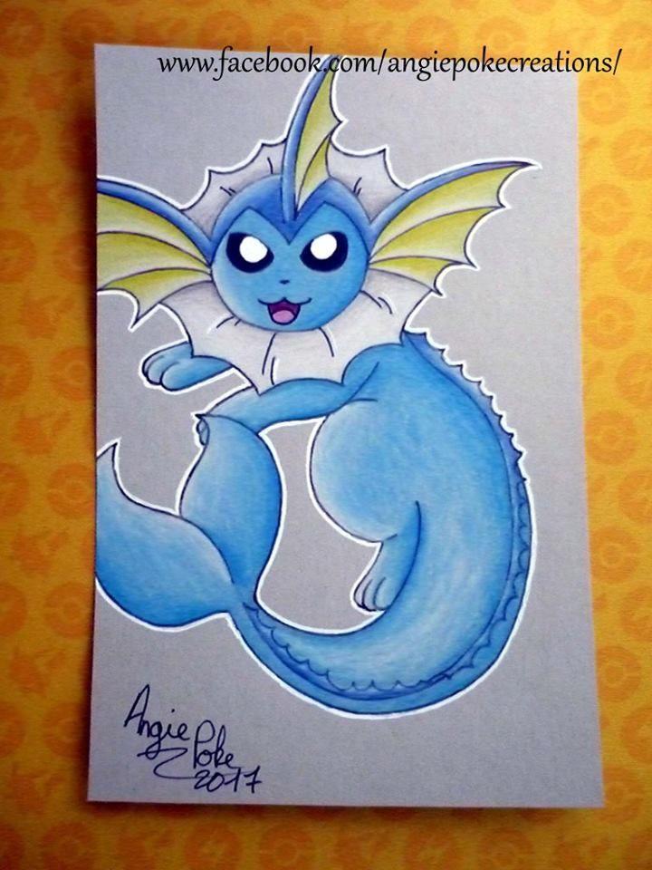 Dessin Pokemon Aquali Crayon De Couleur Dessin Crayon De