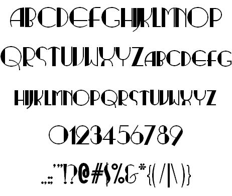 Ritzy Normal Font | ART DECO Fonts | 1920s font, Fonts, Art