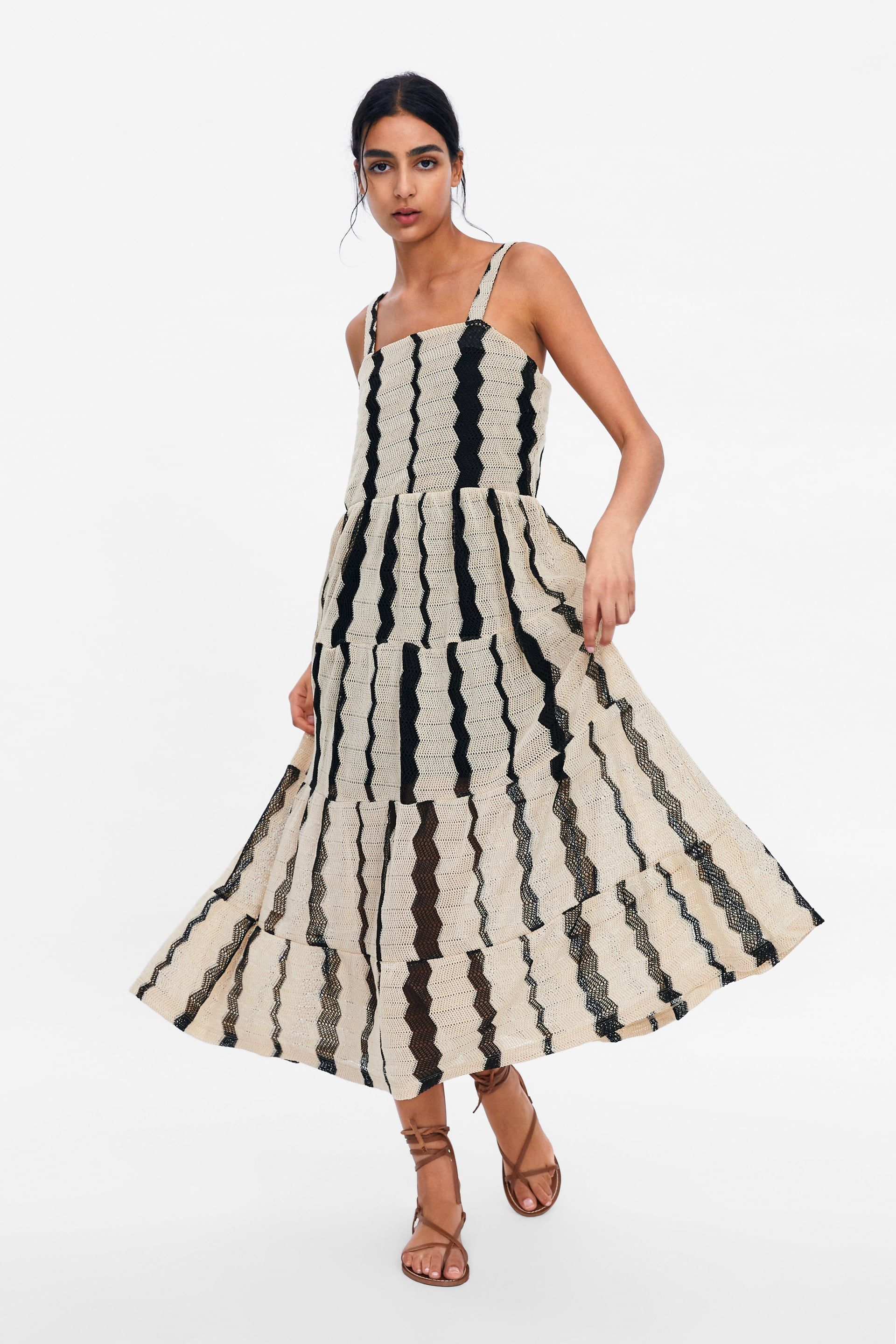bc8ffd677da STRIPED TEXTURED WEAVE DRESS - View all-DRESSES-WOMAN