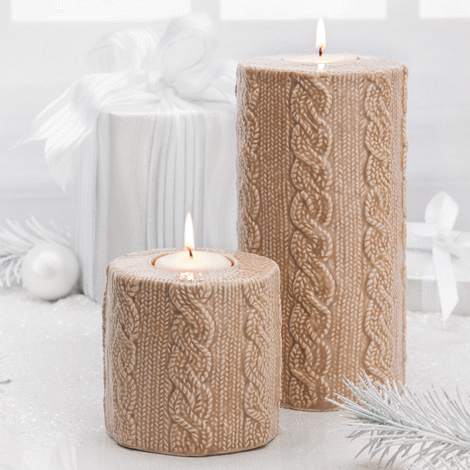 Product Ceramic Cable Knit Texture Candle Holders Candle Holders Candles Candle Holder Set
