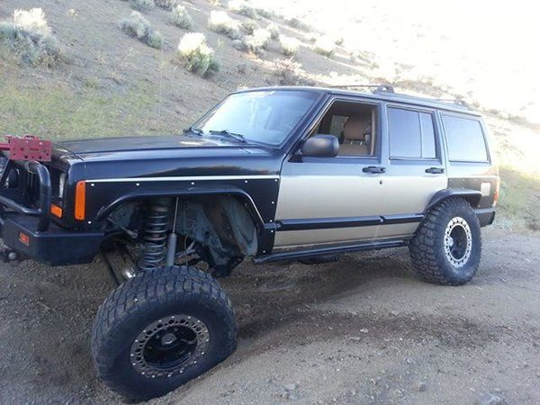 Hooligan Off Road Xj Full Set Of Steel Fenders Jeep Mods Fender Flares Jeep Cherokee