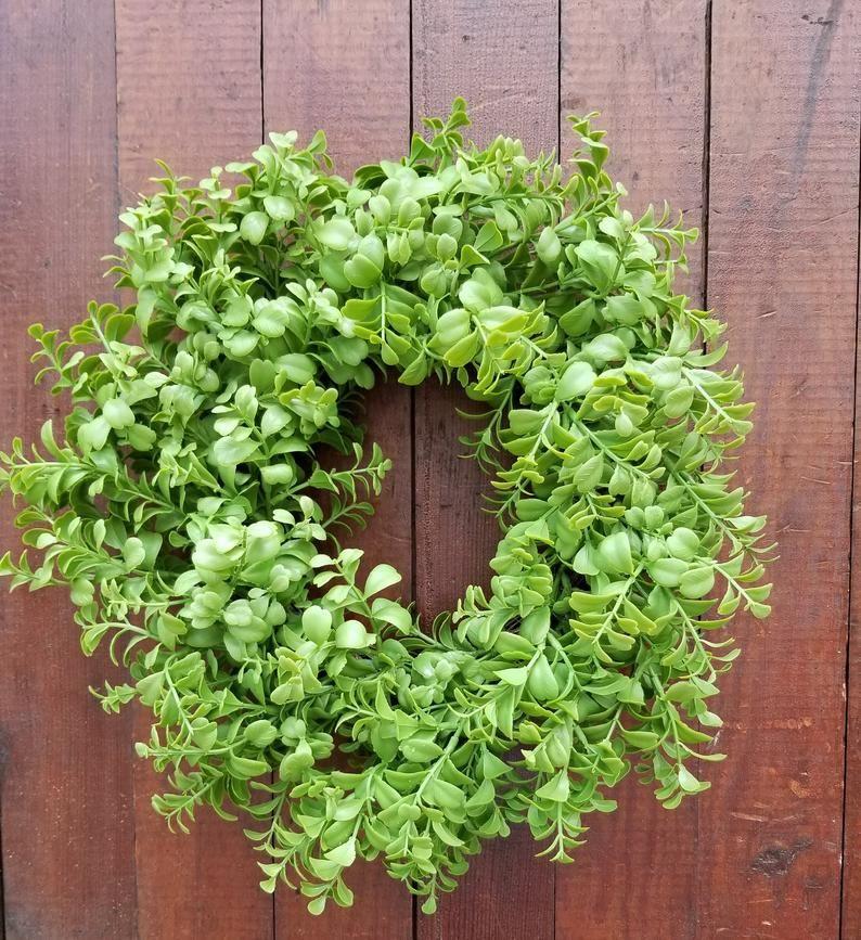 Photo of 16″ Boxwood Wreath, Wreath for All Year Round – Everyday Wreath, Door Wreath, Wedding Wreath, Farmhouse Decor