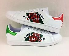 1deabec72452 Gucci Snake Inspired Adidas Original Stan Smith Custom Men s Size 9 ...