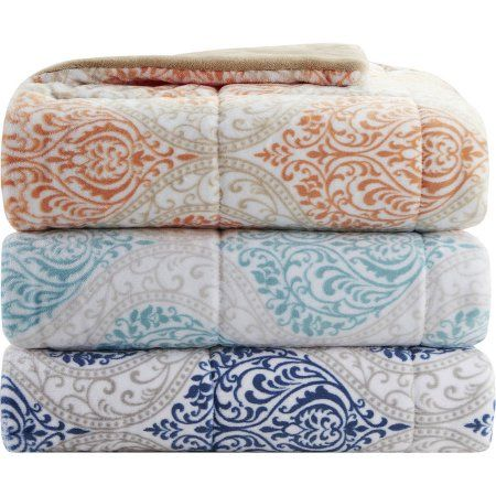 Walmart Throw Blankets Beauteous Home Essence Sydney Oversized Plush Down Alternative Throw  Walmart Design Inspiration