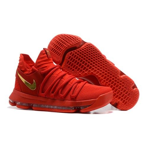 Buy Nike kevin durant kd 10 basketball shoes red gold