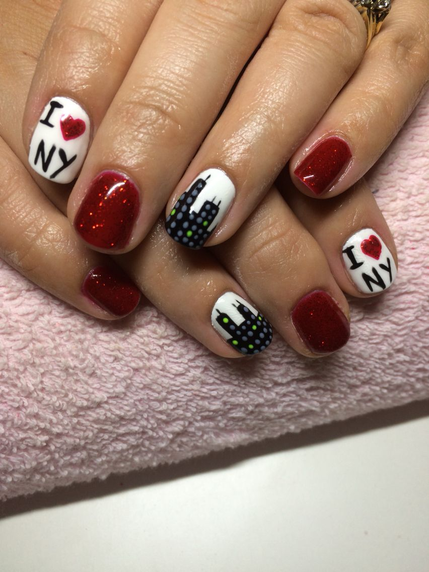 New York nails | Nails by me | Pinterest