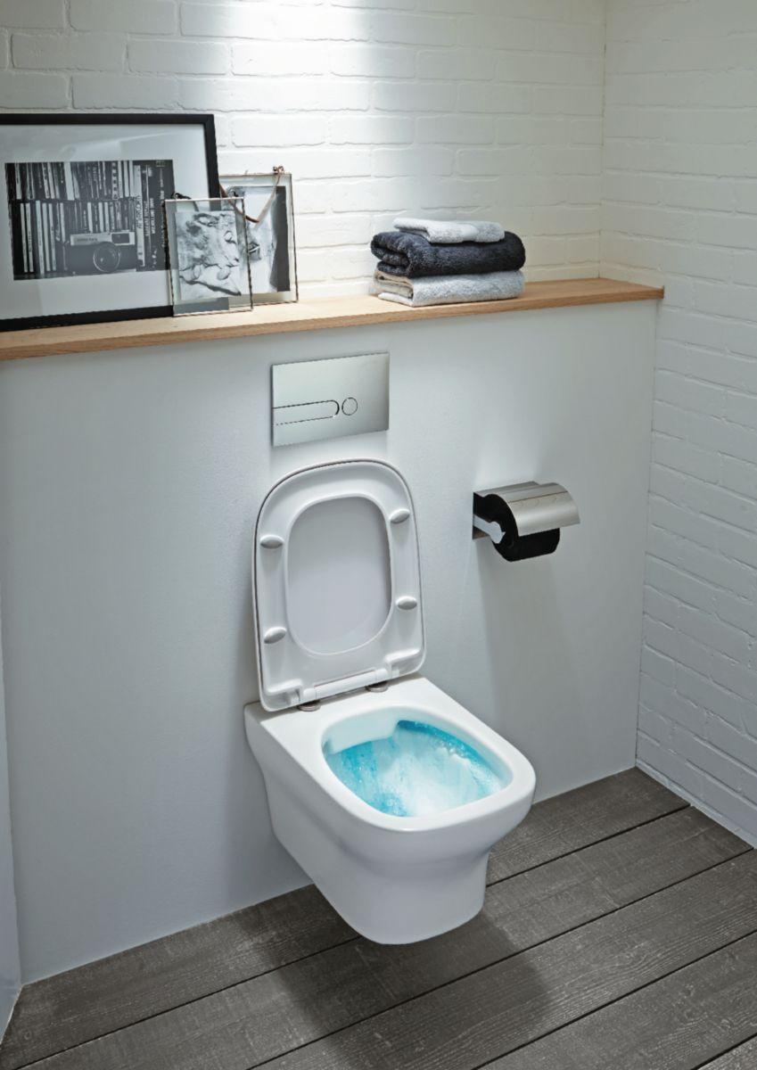 Marque De Toilette Suspendue cuvette suspendue sans bride vox blanc réf. edm102-00