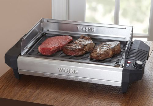 Outdoor grilling has its time (daylight) and place (outdoors). But sometimes, the grill gremlins growl deep in the pit of the stomach when it is just not convenient to fire up the monster out back. Luckily, there is still a way to sooth those pangs for grilling. http://cnet.co/MyMizs