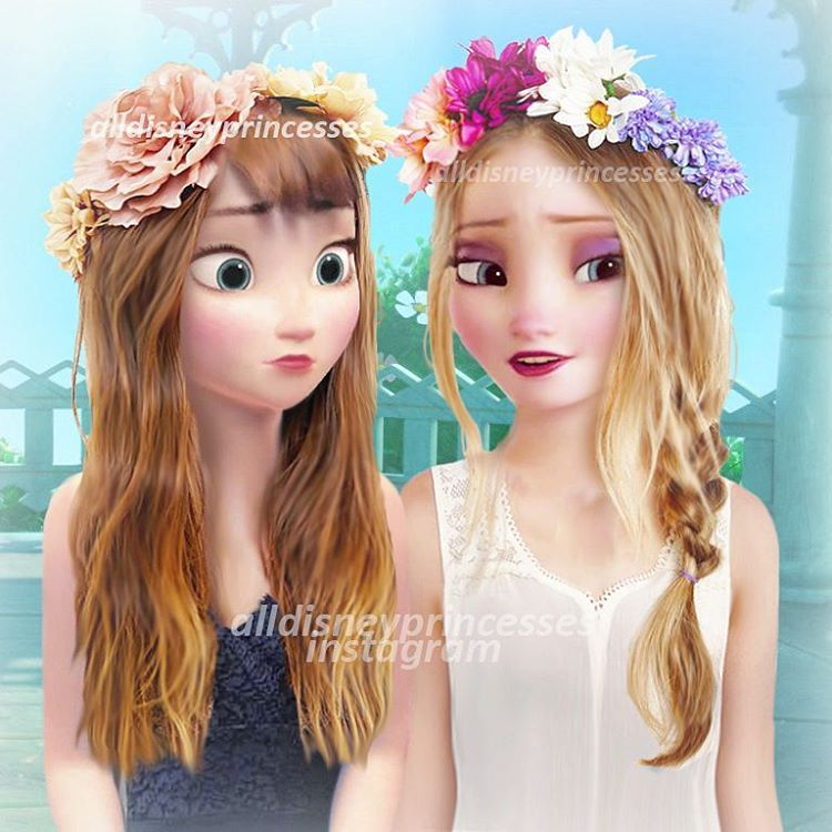 Modern elsa and anna alldisneyprincesses on instagram elsa y ana - Princesse anna et elsa ...