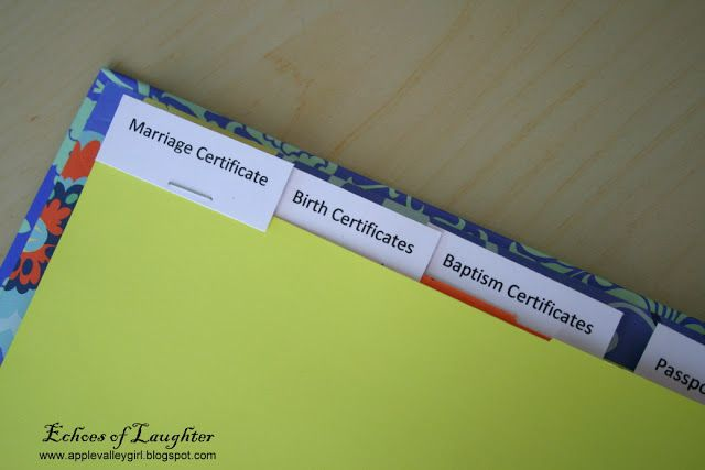 How To Make A Family Documents Binder #importantdocuments