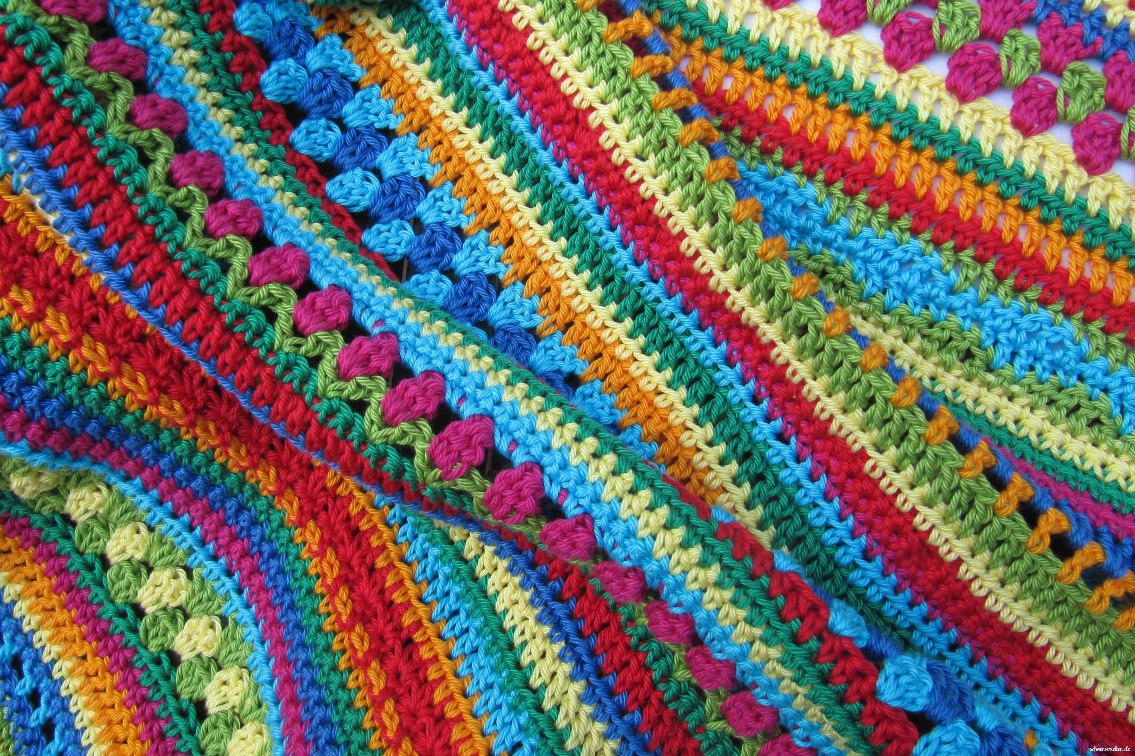 Crochet Along Regenbogen Babydecke Teil 7 | Babydecken, Decken und ...