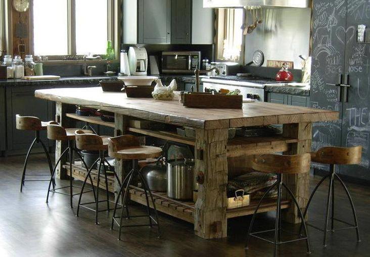 Rustique Tables De Cuisine Rustique Design De Cuisine Rustique Cuisines Maison