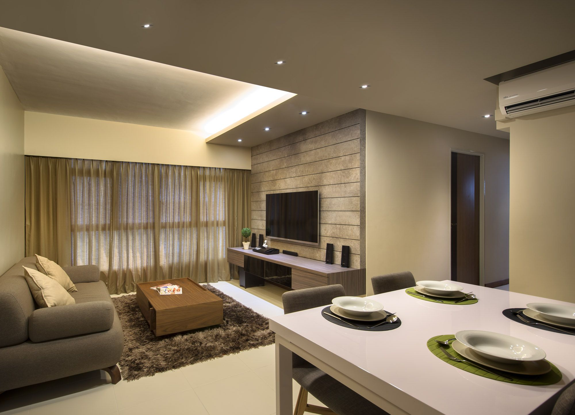 Rezt relax interior design and renovation singapore for Living room ideas hdb
