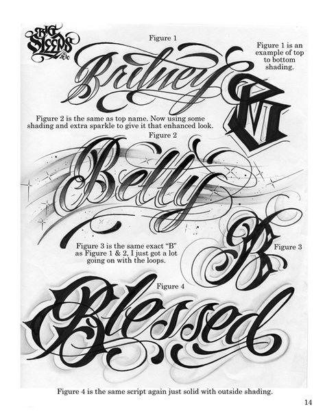 LETTERS TO LIVE BY VOLUME 1 Tattoo Script Lettering Sketchbook Flash Book By Big Sleeps