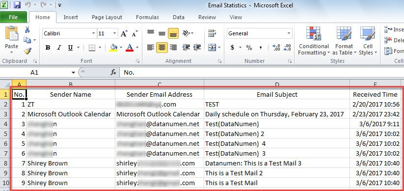 How to Auto Export Information of Incoming Emails to an