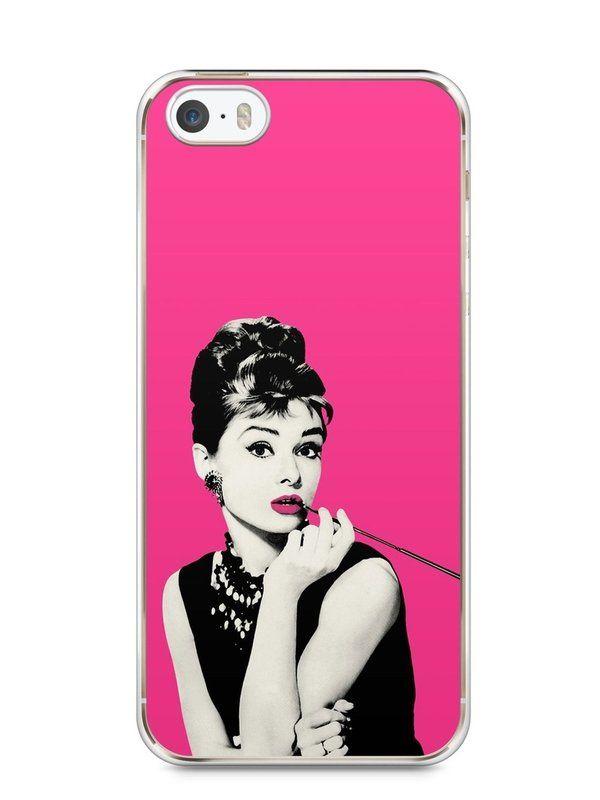 Capa Iphone 5/S Audrey Hepburn #4 - SmartCases - Acessórios para celulares e tablets :)