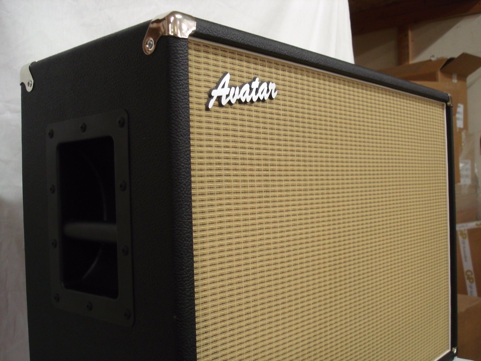 NEW AVATAR G212 Black Guitar Amp Speaker Cabinet. Complete But Empty No  Speakers Https: