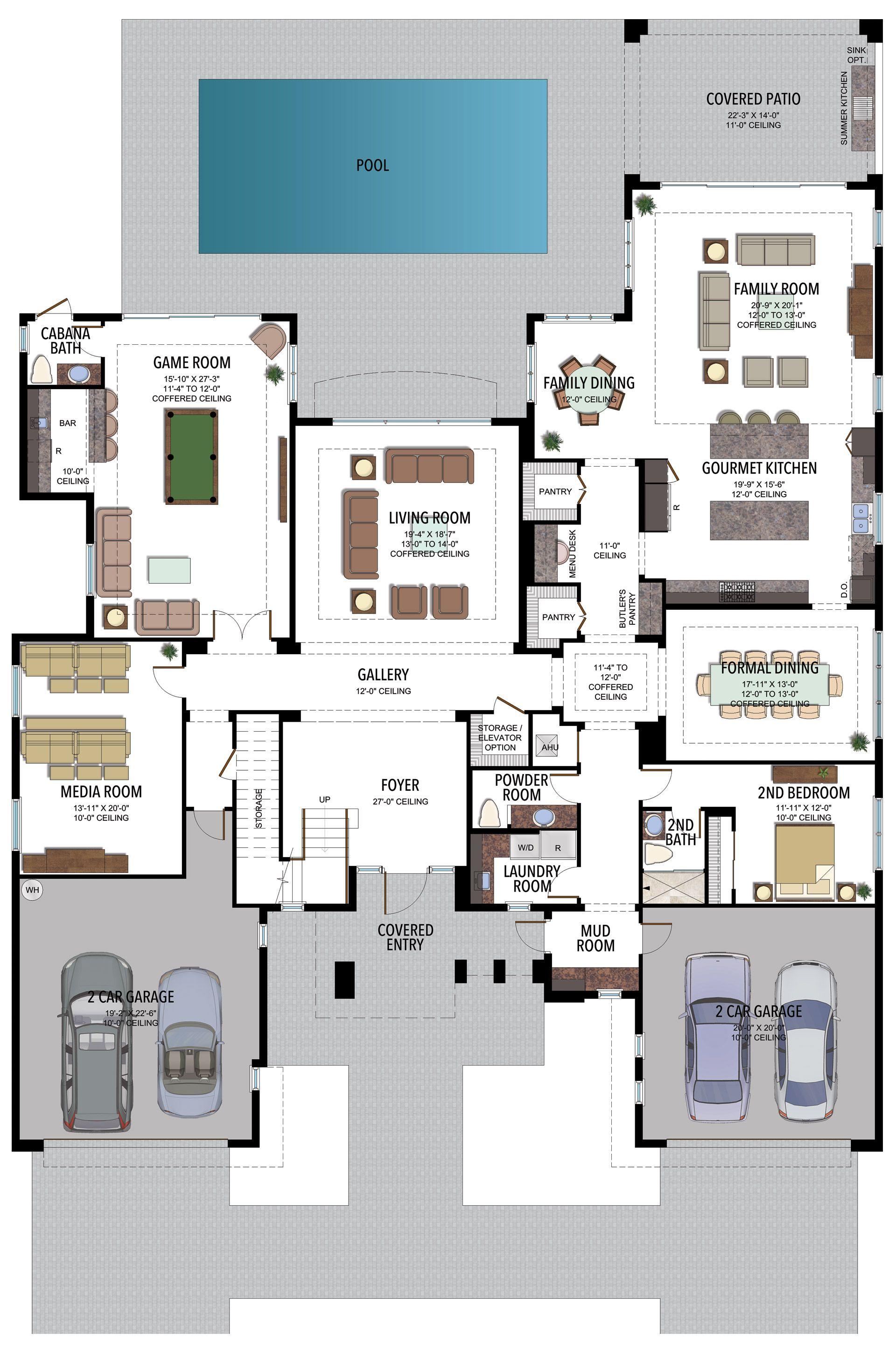 Palazzo Contemporary 904c Florida Real Estate Gl Homes In 2021 Floor Plans House Floor Plans House Plans