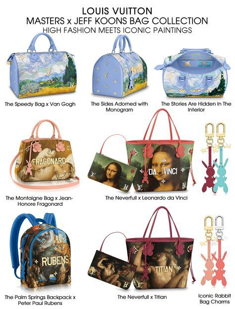 0f4ca0283 Louis Vuitton Masters x Jeff Koons Bag Collection | LV purses ...