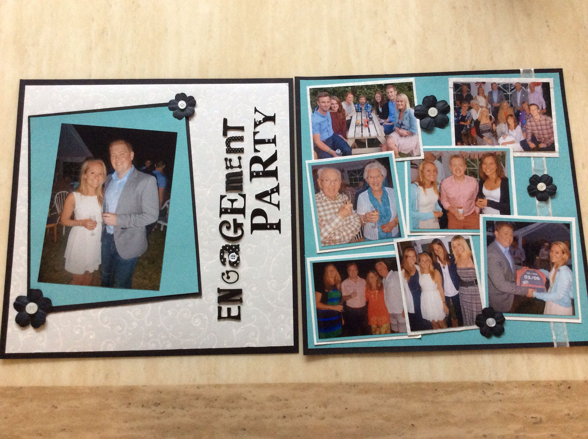 Scrapbook App Age Turquoise Blacks Sparkle Engagement Party My