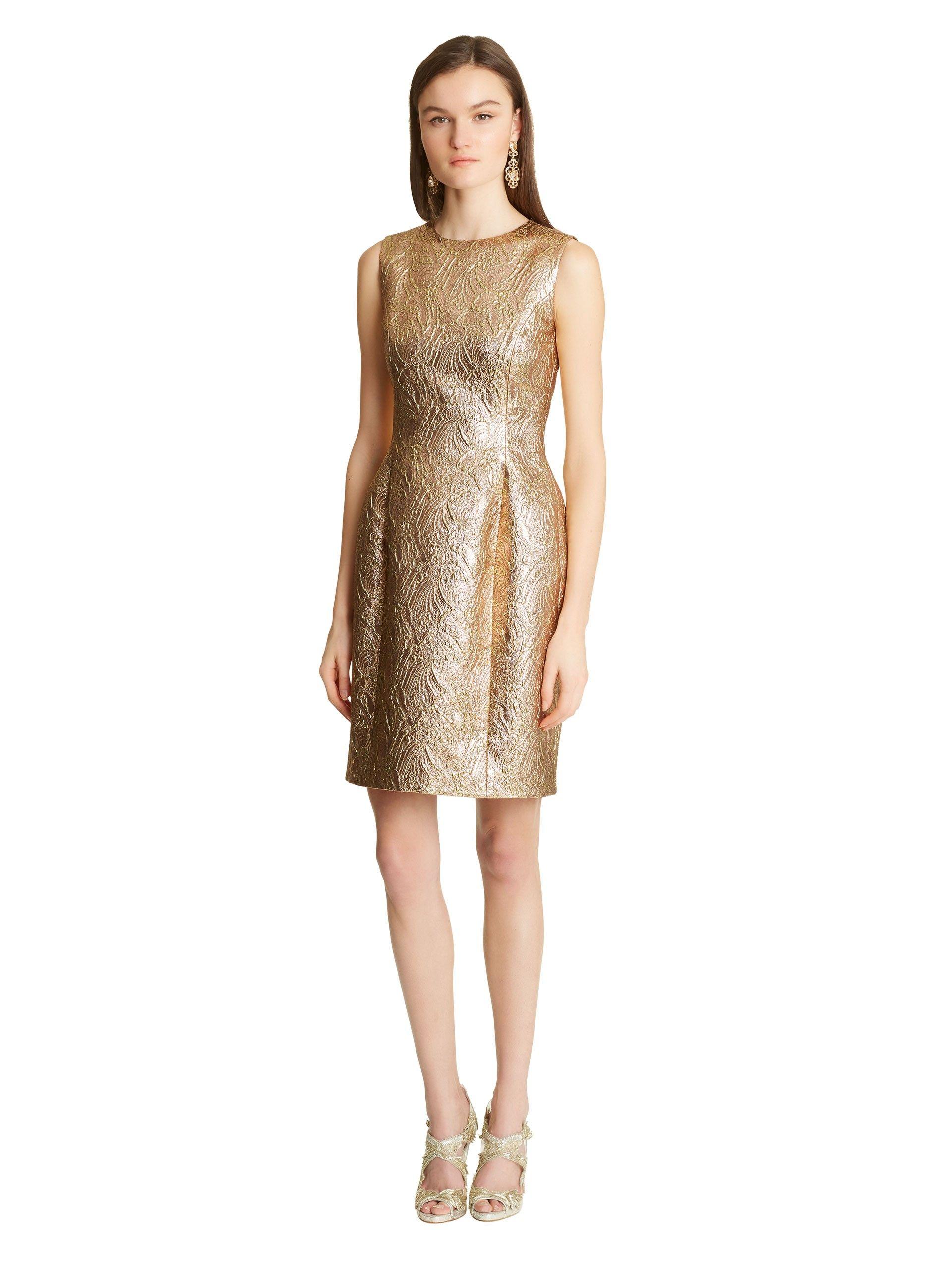 2e546b92aed Oscar de la Renta - Baroque Jacquard Lamé Bottle Dress