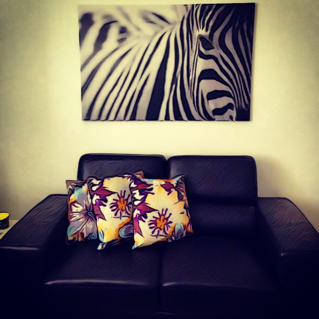 ikea\'s zebra painting on our wall | Home | Pinterest | Zebra ...