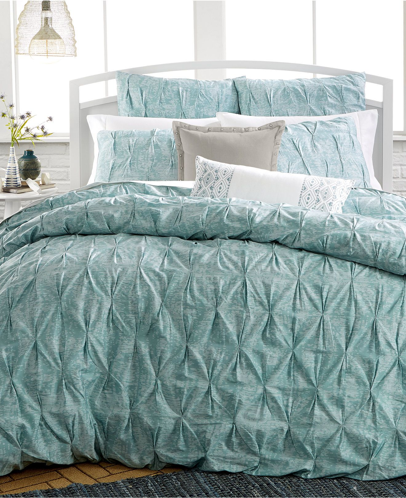jacobean p set blue bedding comforter arabelle damask