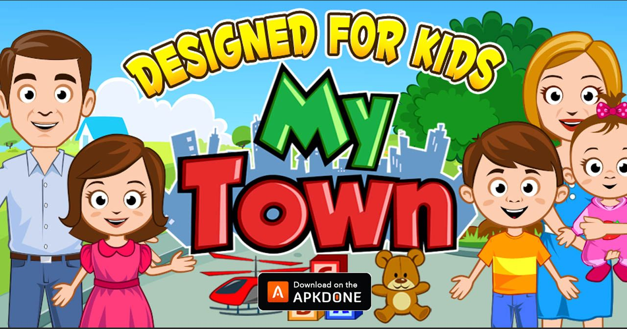 new apk my town home dollhouse mod apk 5 91 full updated modded apkdone in 2020 my town town games doll house pinterest