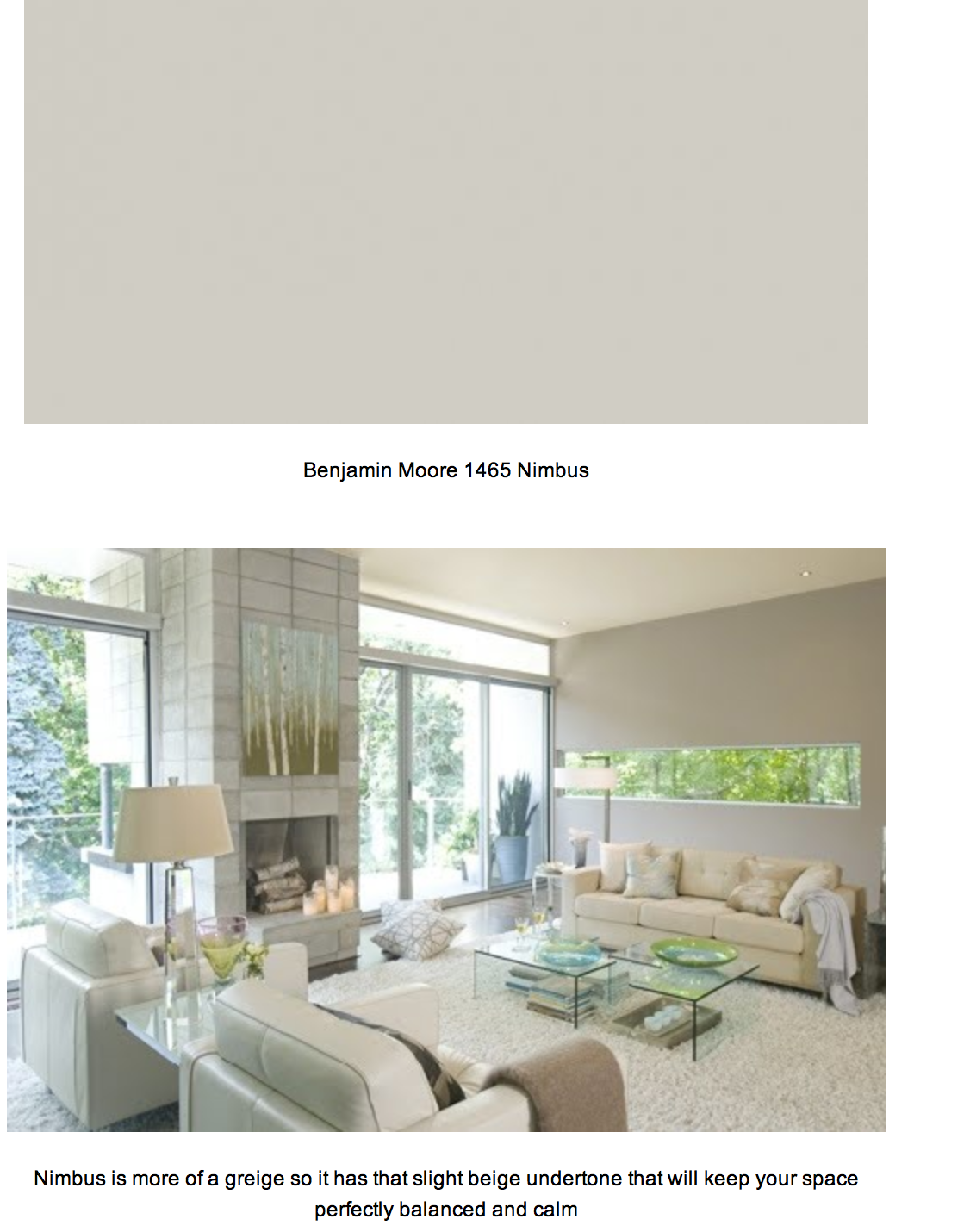 the color we picked for most of the house: Benjamin Moore: Nimbus ...
