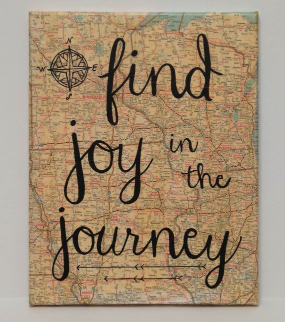 Find Joy in the JourneyMap Canvas Graduation gifts Messages