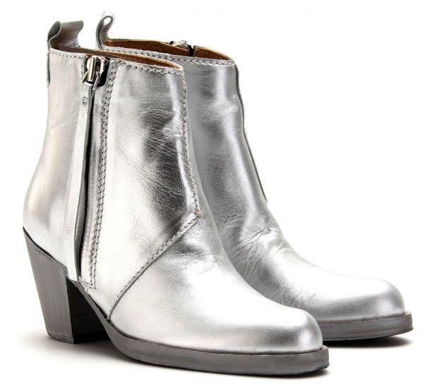 Limited Edition Silver Acne Pistol Boots | Shoes | Pinterest ...