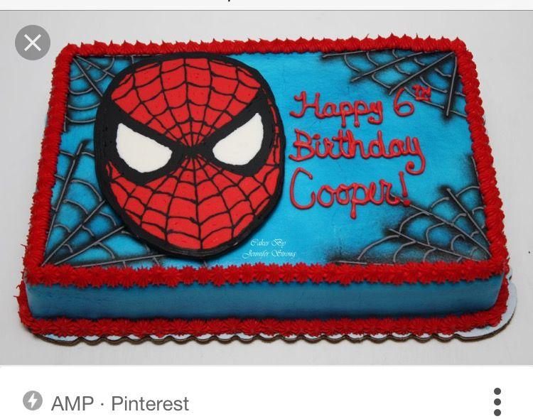 Spiderman Tortendeko Dekoration Kuchen Torte Party Kindergeburtstag Geburtstag