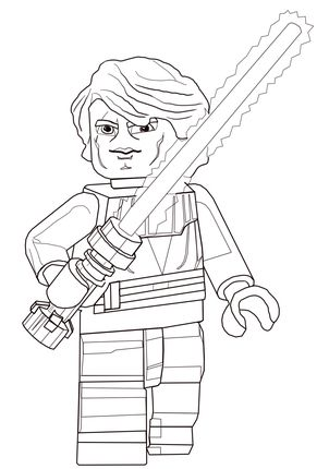 Lego Anakin Coloring Page Star Wars Colors Star Wars Anakin Lego Star Wars