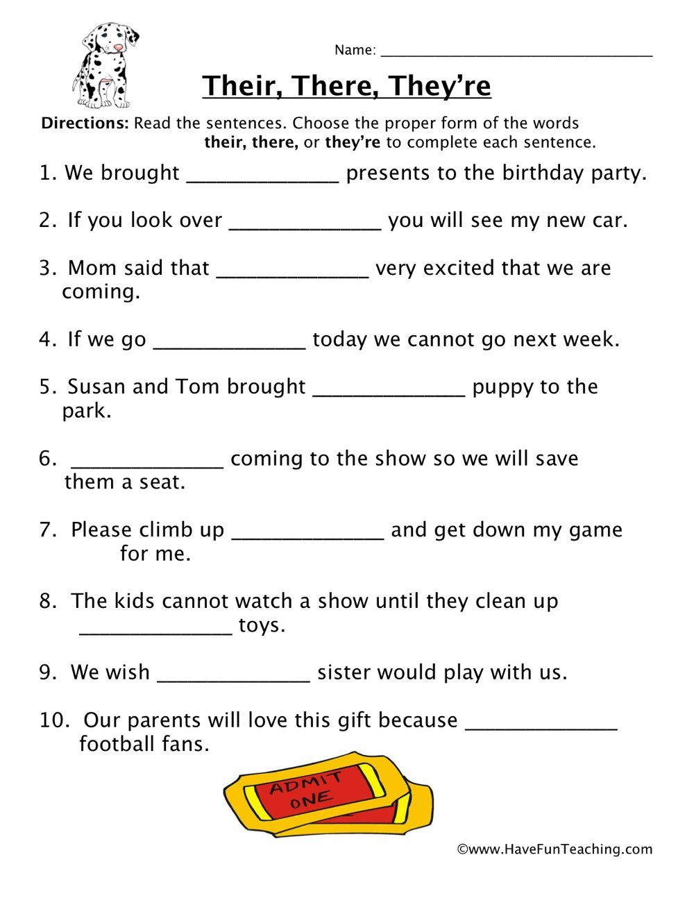 Their There They Re Homophones Worksheet In 2020 Homophones Worksheets Super Teacher Worksheets Vocabulary Worksheets