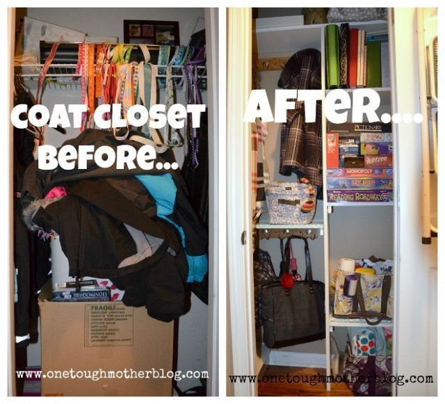 Coat closet transformation google search coat closet for Transform small closet space