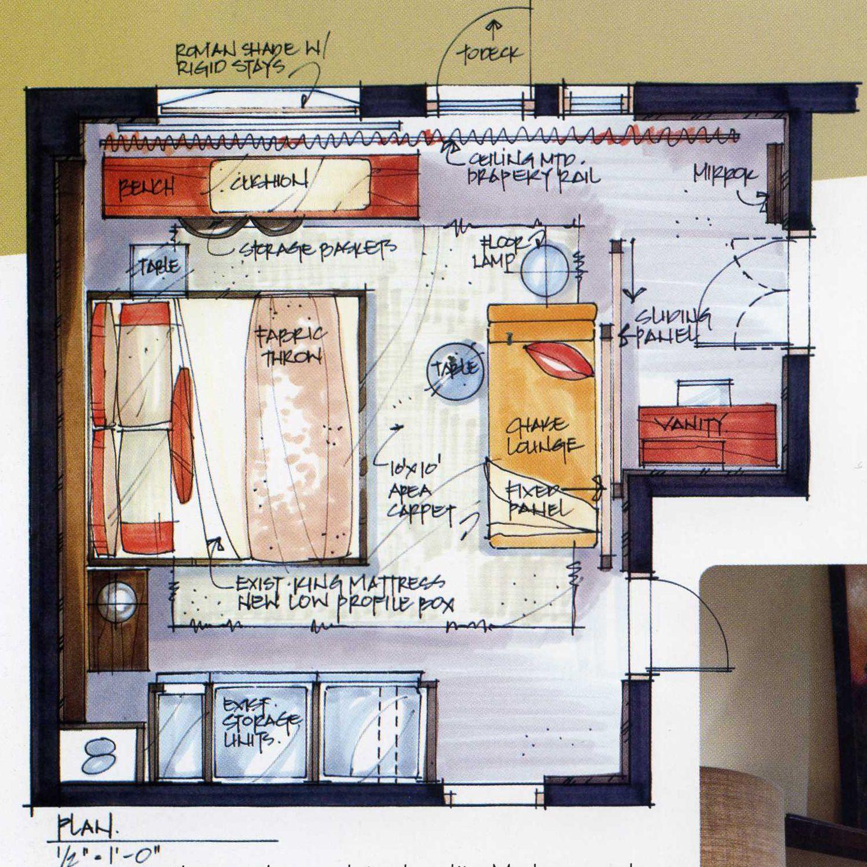 Interior Design Layout: Candice Olson Sketch