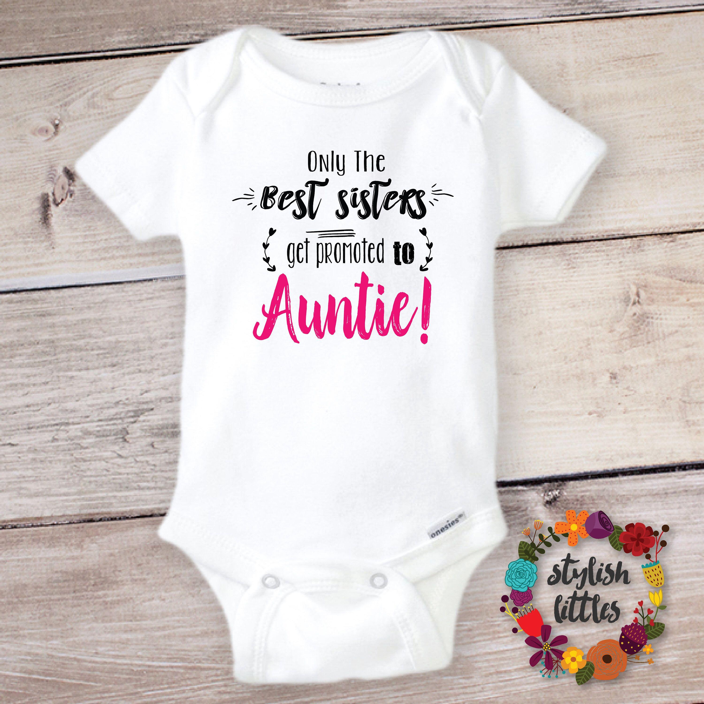 e2c70ae19 Baby Reveal Onesie ® for the new Aunt Auntie Tia