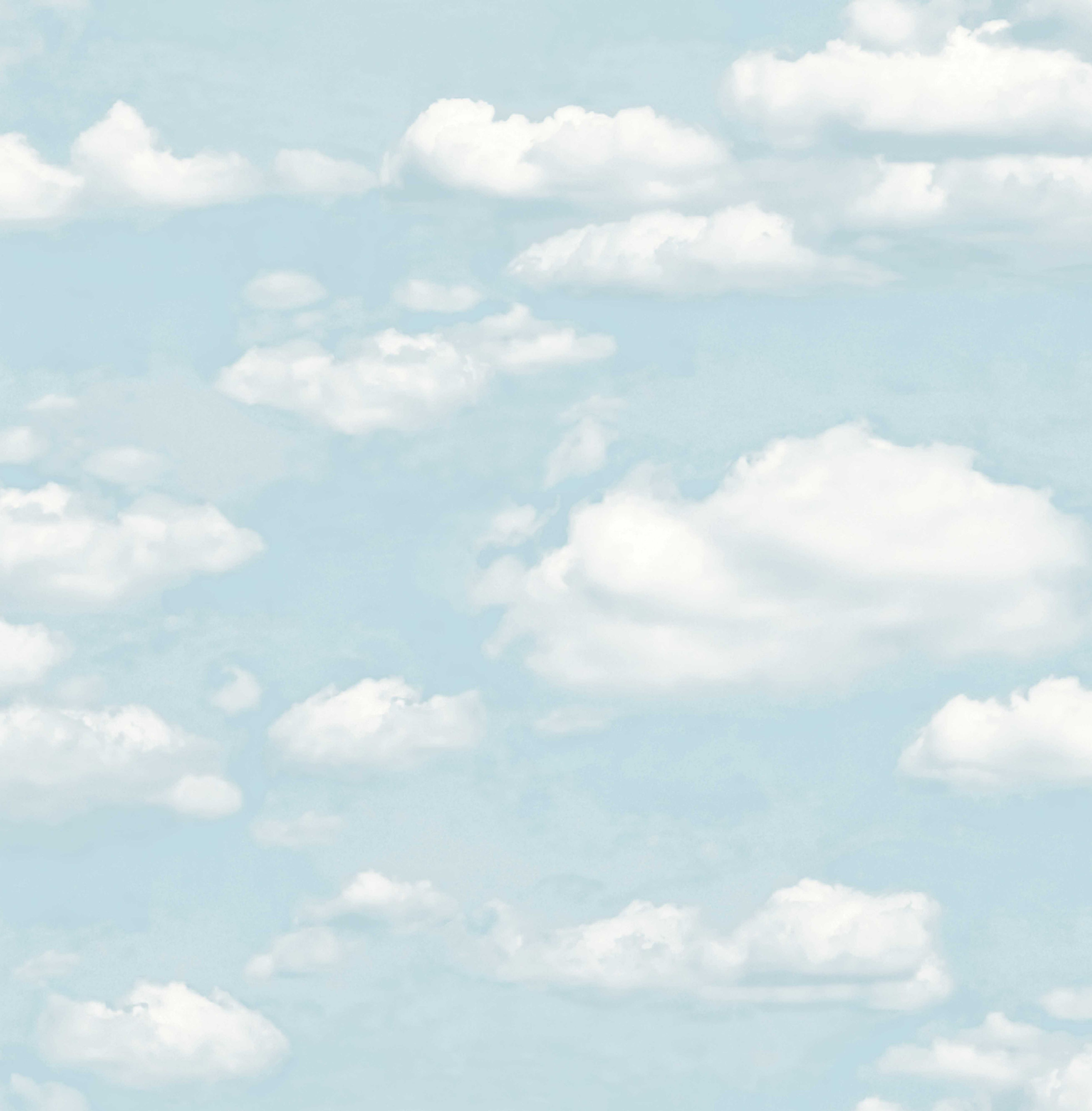 Cloud Wallpaper For Bedroom Colours Clouds Chalk Blue Wallpaper Departments Diy At