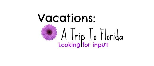 I'm headed to Florida the second week in April and I am looking for some tips and advice when I'm down there. Maybe some places to go while I'm there? Toddler friendly of course!