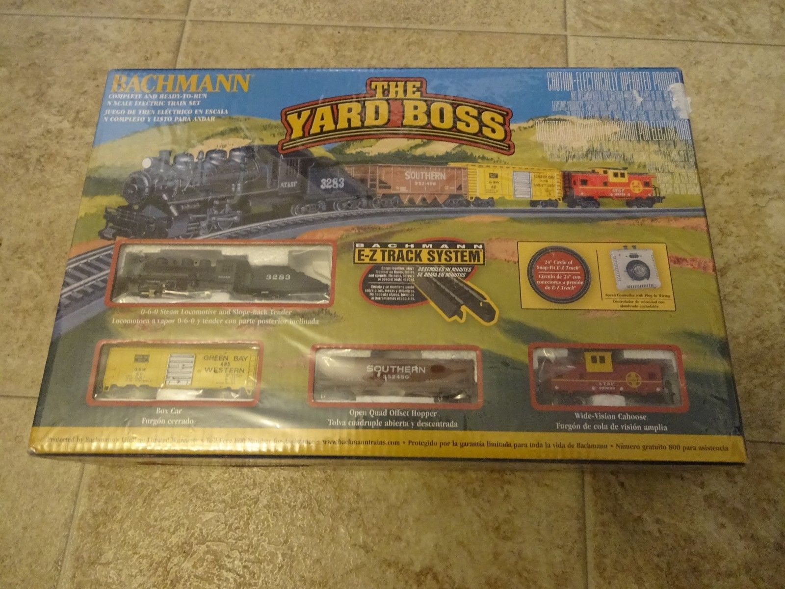 Starter Sets and Packs 22547: Bachmann The Yard Boss Train Set Santa Fe 0-6-0 Steam Engine N Scale 24014 New -> BUY IT NOW ONLY: $69.5 on eBay!