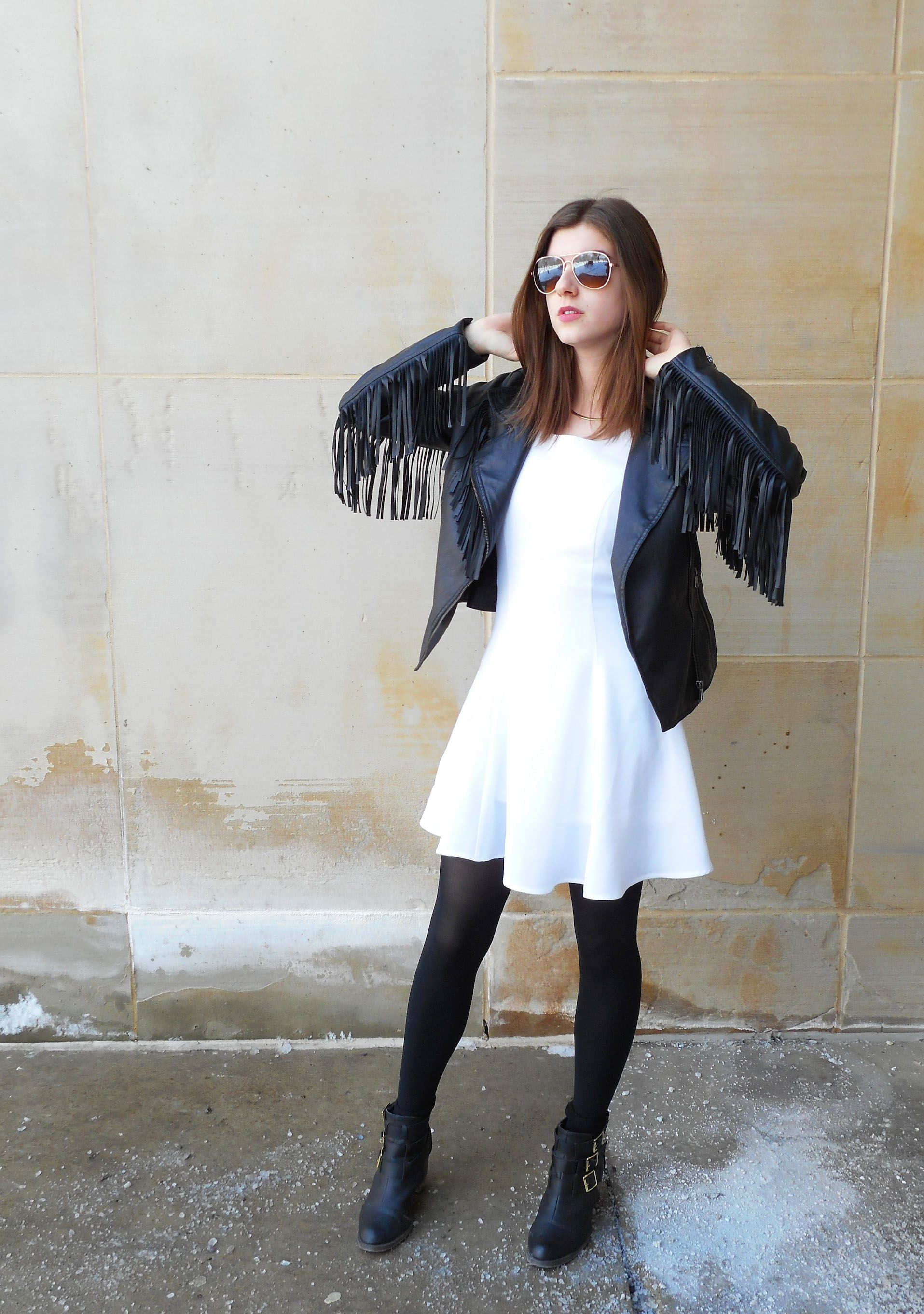 White dress boots - Find This Pin And More On Skater Dresses