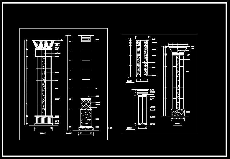Pin by CAD Blocks&Drawings on ☆【Column Design Drawing