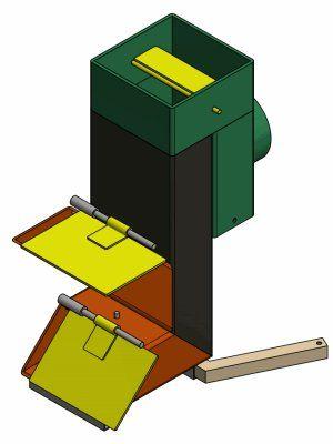 合体 ロケットストーブ 「炉ボ」 150×75mm鋼管(t=3.2) 12kg 高さ480mm | φ106mm煙突ジョイント付き 焚き火台