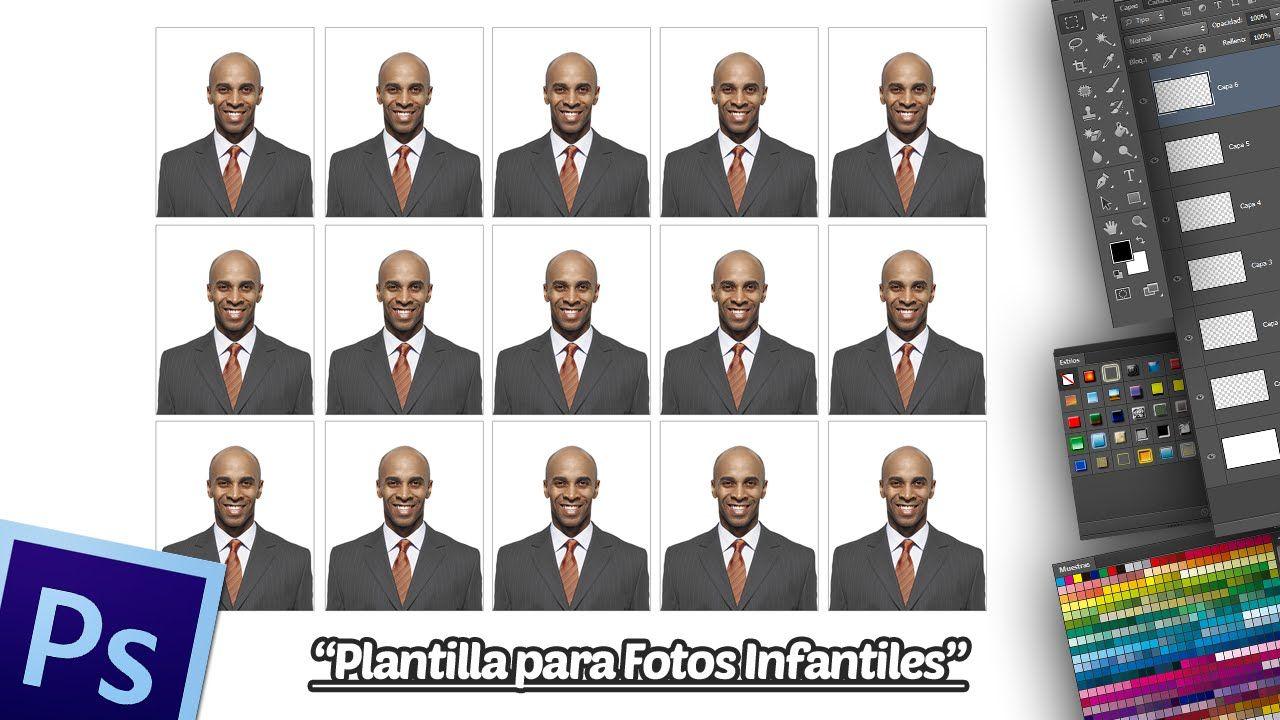 Crear Plantilla Para Fotos Tamaño Infantil En Photoshop Fotos Infantiles Foto Tamaño Infantil Plantillas Para Fotos