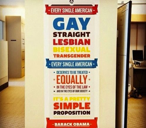 A poster hanging at Obama campaign HQ via Matt Stopera